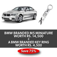 BMW BRANDED M5 MINIATURE AND BMW BRANDED KEY RING