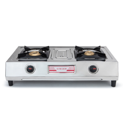 SINGER DOUBLE BURNER GAS COOKER