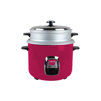 SINGER RICE COOKER (RED) – 1.8 LITRES